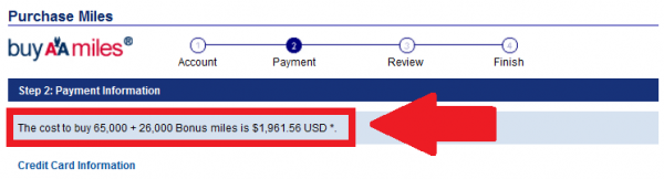 American Airlines Buy Miles Offer April 2014 Price