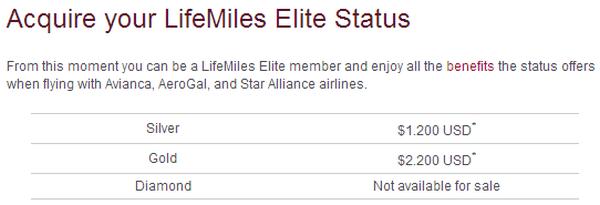 Avianca LifeMiles Cards Price