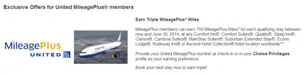 Choice Privileges United MileagePlus Triple Miles April 26 June 30 2014.jpg