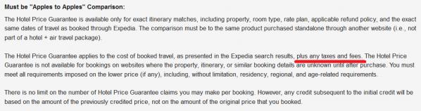 Expedia Rewards Hotel Price Guarantee New