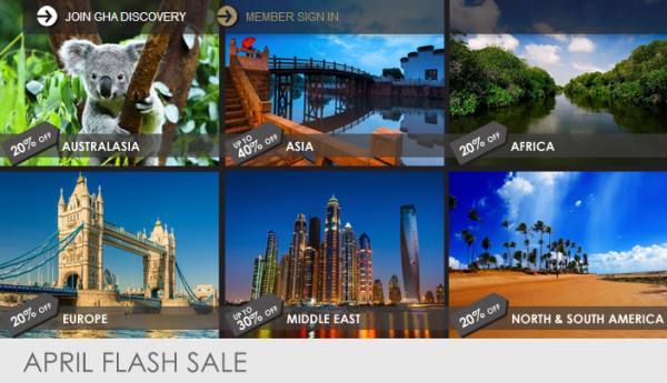 GHA Discovery April 2014 Flash Sale