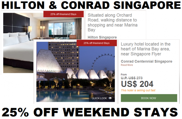 Hilton Conrad Singapore 25 Percent Off Weekend Stays