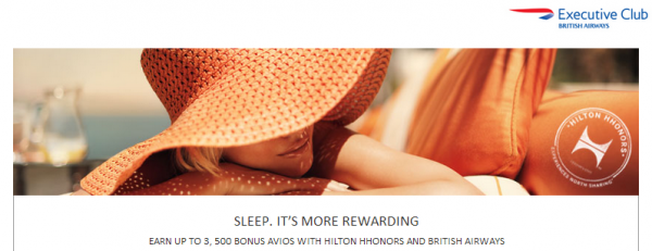 Hilton HHonors British Airways Executive Club Avios Bonus April 1 June 30 2014