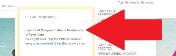 Hyatt Gold Passport Instant Platinum + Diamond Fast Track Offer Confirmation