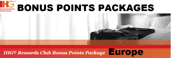 IHG Rewards Club Bonus Points Packages Europe April 1 June 30 2014