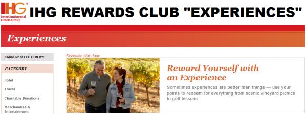 IHG Rewards Club Experiences U