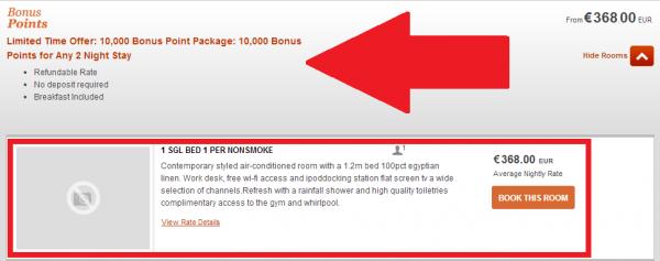 IHG Rewards Club Indigo Rome 10,000 Bonus Points Offer Rates 1