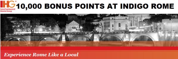 IHG Rewards Club Indigo Rome 10,000 Bonus Points Offer