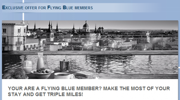 Le Club Accorhotels Air France-KLM Flying Blue Triple Miles Offer April June 2014