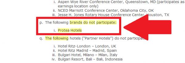 Marriott Protea Non-participating