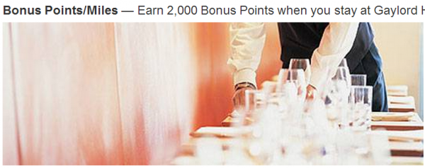 Marriott Rewards Gaylord Promotions
