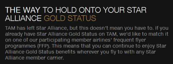 Star Alliance Gold Match Tam JJ
