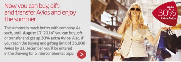Iberia Plus Purchase Avios Promo August 2014