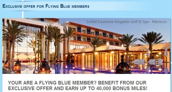 Le Club Accorhotels Air France-KLM Flying Blue 1,000 Bonus Miles Fall 2014