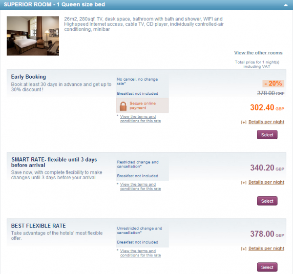 Le Club Accorhotels Sofitel St James Offer Price
