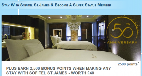 Le Club Accorhotels Sofitel St James Offer