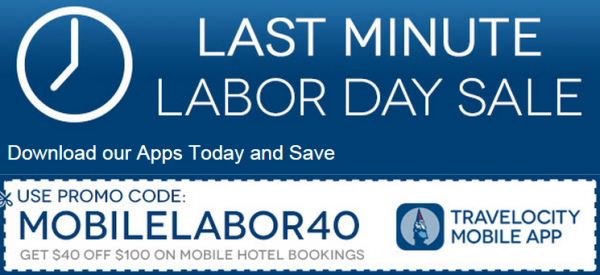 Travelocity Labor Day $40 Off $100 Coupon