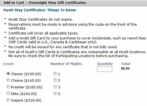 hyatt-stay-certificates-prices