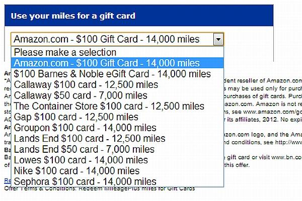 Using United Miles for Gift Cards & Other Merchandise | LoyaltyLobby
