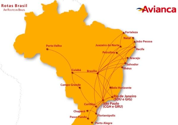 avianca-brazil-route-map
