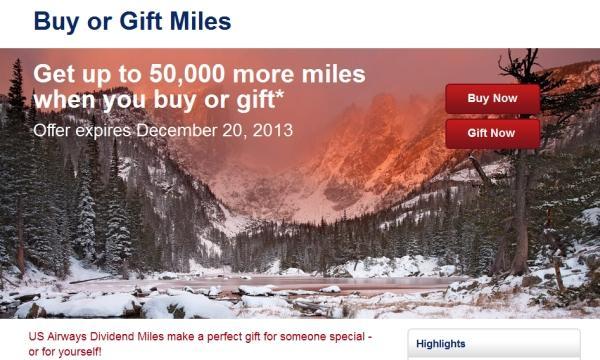 us-airways-buy-gift-miles-december-2013-promotion