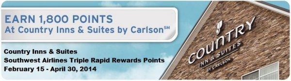 club-carlson-country-inns-suites-southwest-airlines-rapid-rewards-triple-points