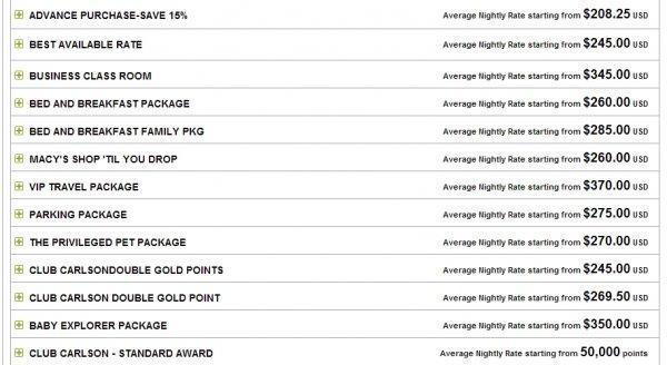 club-carlson-mega-points-promotion-radisson-martinique-other-rates