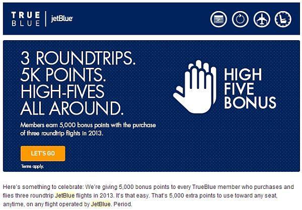 jetblue-true-blue-5000-bonus-points