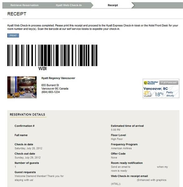 Hyatt Web Amp Kiosk Check In Do They Work Or Make Any
