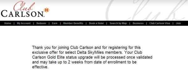 club-carlson-delta-gold-confirmation