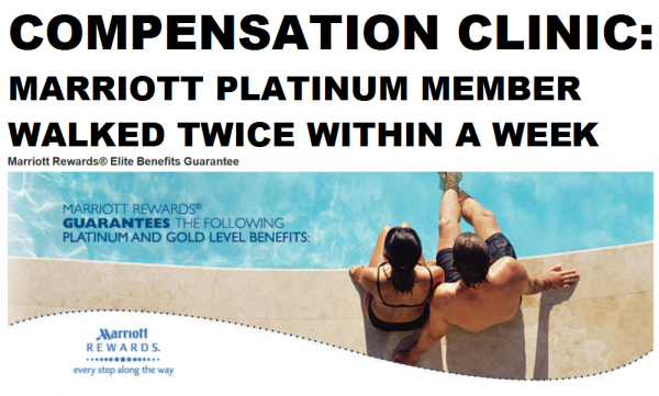 Compensation Clinic Marriott Platinum Member Walked Twice Within A Week