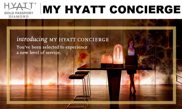 Hyatt Gold Passport My Hyatt Concierge