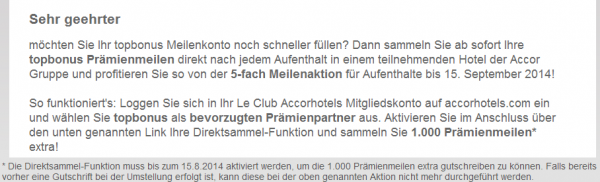 Le Club Accorhotels Airberlin Quintuple Miles Offer + 1,000 Bonus Miles Email