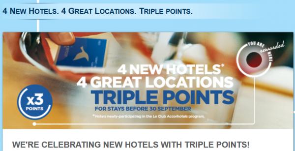 Le Club Accorhotels Australia Triple Points