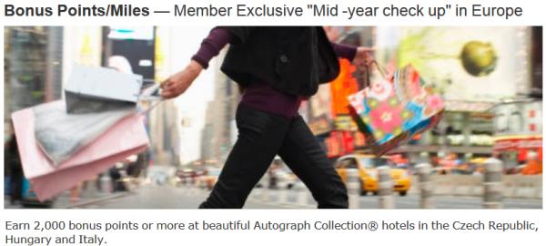 Marriott Rewards Autograph Collection Boscolo Promotion