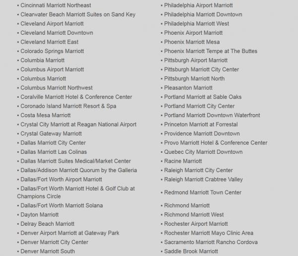 Marriott Rewards Plus Points Enhanced Participating Properties 4