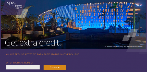 SPG Get Extra Credit Promo