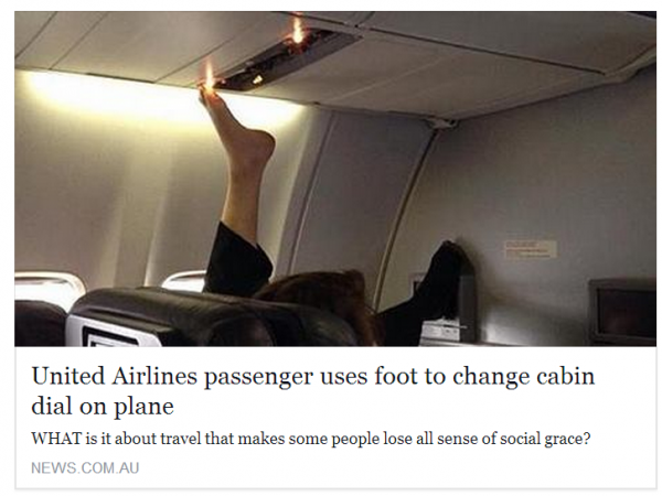 United Airlines Foot