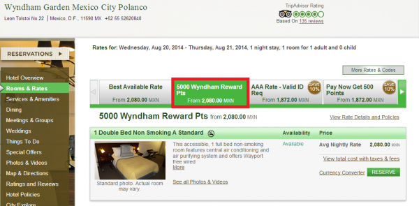 Wyndham Reward 5,000 Bonus Points Per Stay Wyndham Garden Mexico City