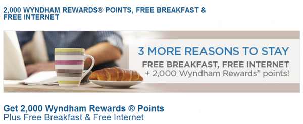 Wyndham Rewards 2,000 Bonus Points Per Stay Offer
