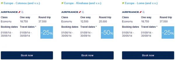 Air France-KLM Flying Blue Promo Awards June 2014 Africa 1