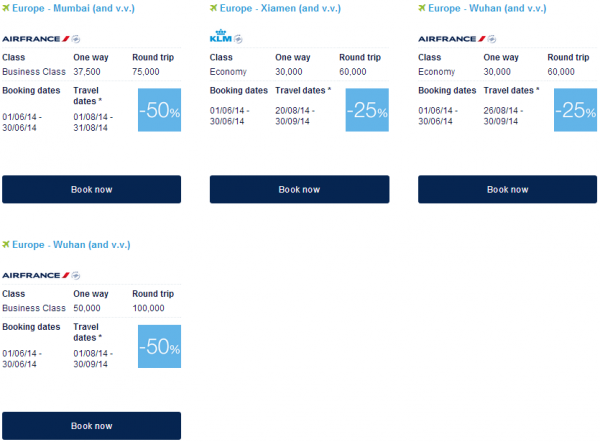 Air France-KLM Flying Blue Promo Awards June 2014 Asia Pacific 2