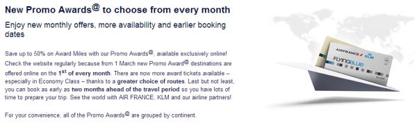 Air France-KLM Flying Blue Promo Awards June 2014