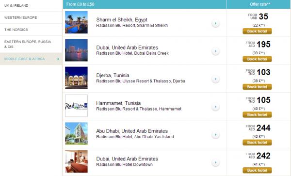 Club Carlson EMEA Radisson Blu & Park Inn Up To 40 Percent Off Sale Radisson Blu Hotels