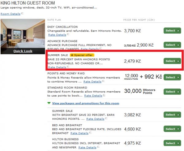 Hilton Europe Middle East & Africa Summer 2014 Sale Hilton Prague