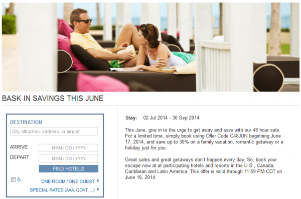 Hyatt Gold Passport June 2014 48-Hour Sale U