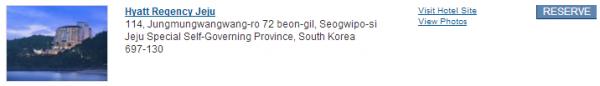 Hyatt Gold Passport south Korea Offer Hyatt Regency Jeju