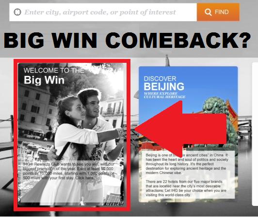 IHG Rewards Club Big Win Summer 2014