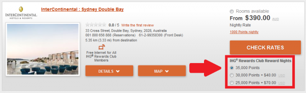 IHG Rewards Club InterContinental Sydney Double Bay