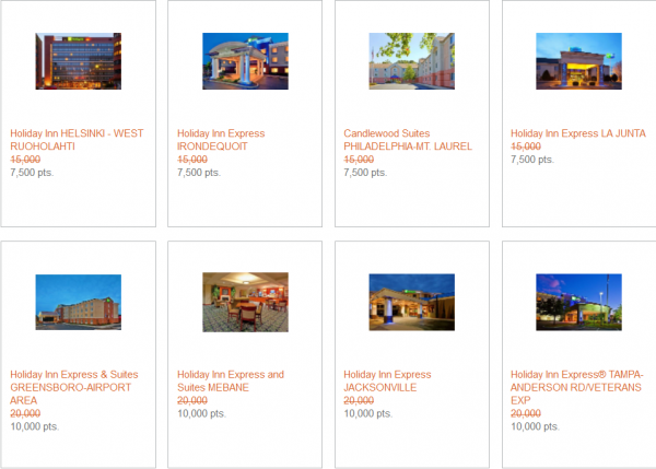 IHG Rewards Club Last Minute Award Nights July 2